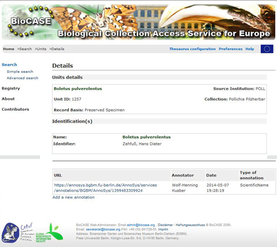 BioCASe-Portal