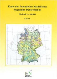 Karte der Potentiellen Natürlichen Vegetation Deutschlands BfN Publikation